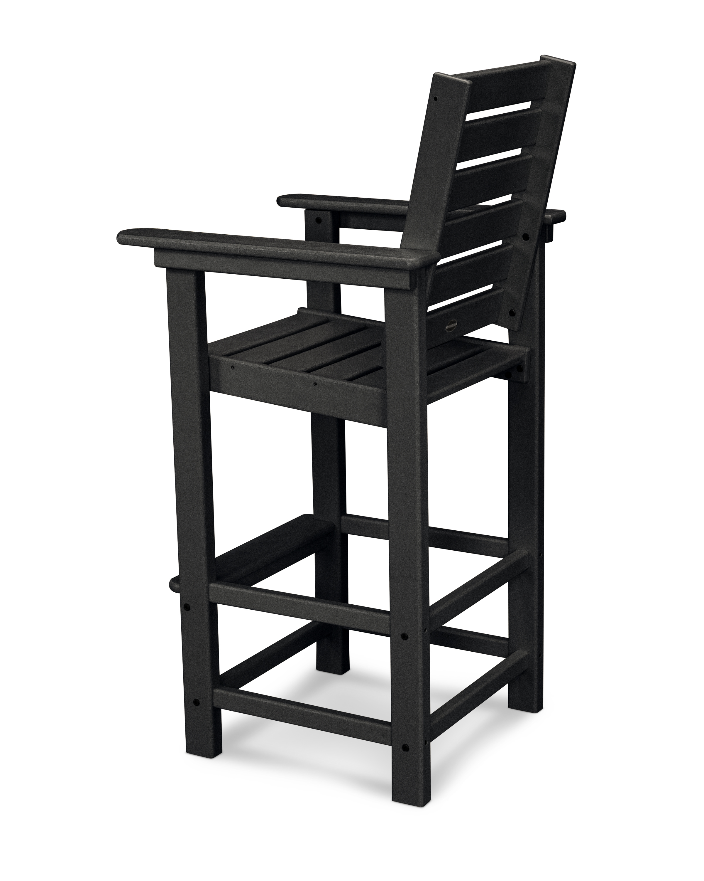 By Itself Or Paired With One Of Our Bar Height Tables, This Tall Chair Adds Contemporary Style To Any Outdoor Entertainment Area. Polywood Furniture Is Constructed Of Solid Polywood Lumber That