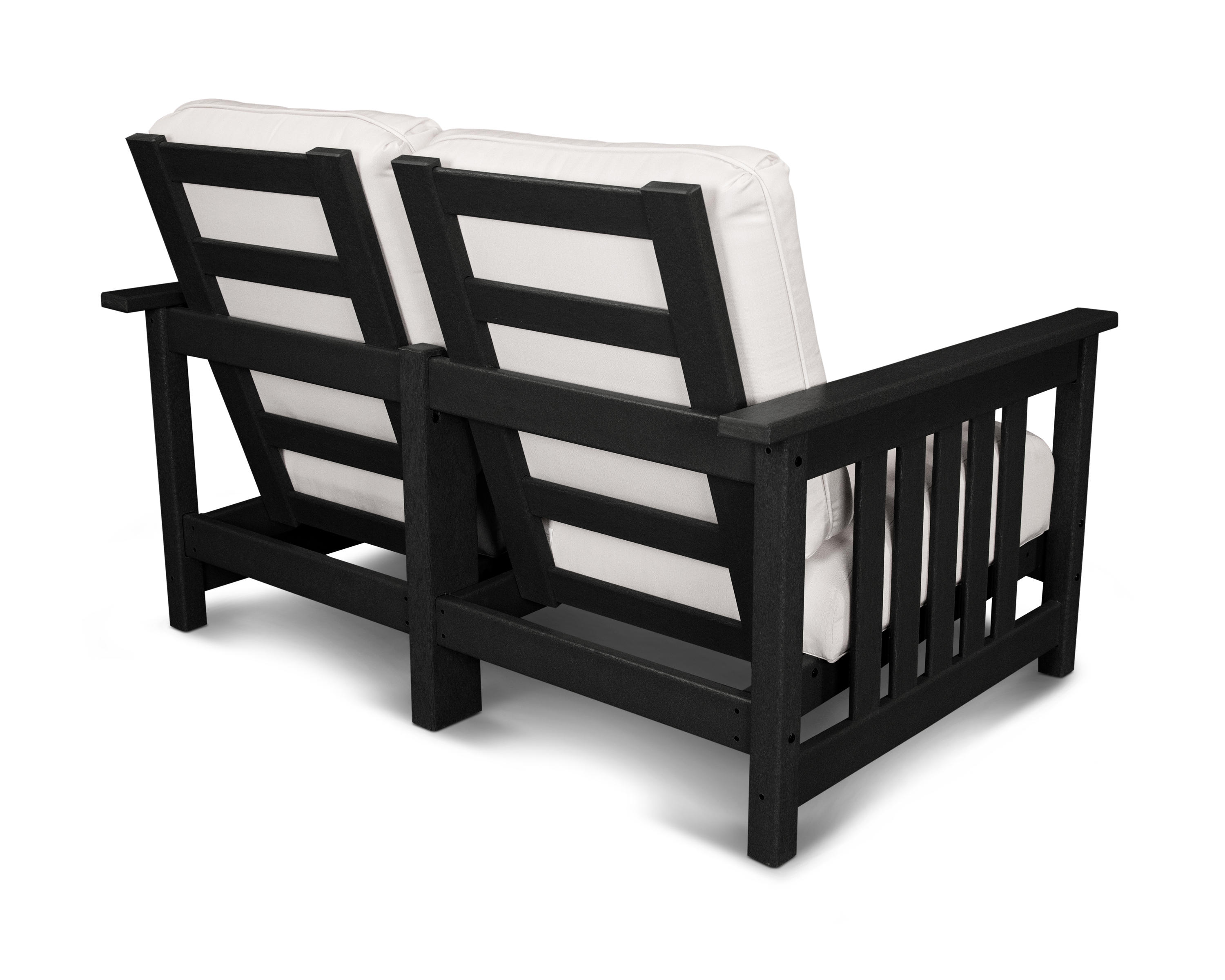 This Cozy Seat For Two Will Add Style And Charm To Your Outdoor Sitting Area. Constructed Of Fade-resistant, Black Solid Polywood