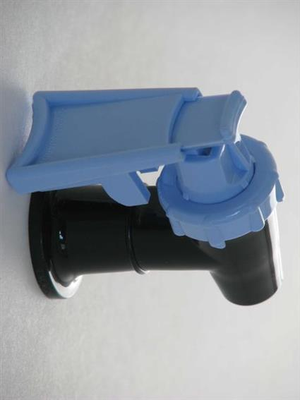 Safety Faucet Black With Light Blue Handle